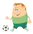 Soccer with ball vector image