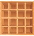 Wooden Shelves Background vector image vector image