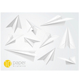 10 paper airplains vector image