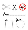 scissors icon collection vector image vector image