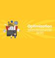 seo optimization programming and web analytics vector image