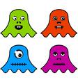cute ghost monsters vector image