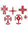 Religious crosses vector image