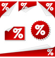 percentage labels vector image vector image