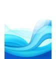 abstract blue wavy water background vector image