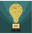 Business doodles in yellow bulb vector image