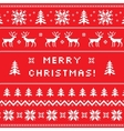 Merry Christmas greeting card sweater design vector image