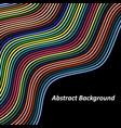 optical art background colorful wave design vector image