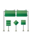 Road signs set green vector image