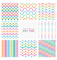 set of colorful seamless patterns vector image