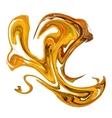 Bright orange paint splash on white vector image