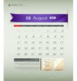 August 2013 Calendar vector image vector image