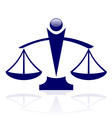 icon - Justice scales vector image vector image