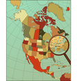 Colorful North America Map with Loop on New York vector image vector image
