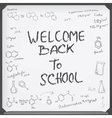 Welcome back to school vector image