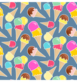 Seamless ice cream background in happy palette vector image
