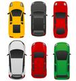 top car view v1 vector image