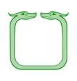 Celtic dog frame vector image