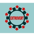Extrovert character Psychlogy metaphor vector image