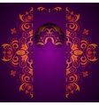 Abstract ornate decorative background with mandala vector image