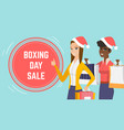 boxing day sale event web page template vector image