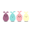 Easter eggs rabbit flat syle icons vector image