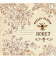 Honey label or background for organic products vector image