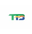 Letter T and D logo vector image