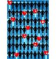 Love network vector image