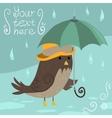 Mr Sparrow with Umbrella vector image