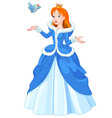 Princess and Bird vector image