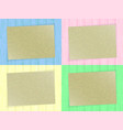 sheet of paper on colorful wooden background vector image