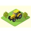 tractor farm machine vector image