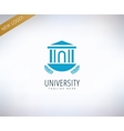 University logo icon Education students vector image