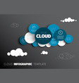 cloud - infographic template vector image