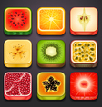 background for the app icons-fruits part 2 vector image vector image