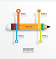Education pencil Infographics Creative Template vector image vector image