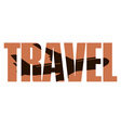Travel sign vector image
