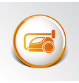 black cleaner icon vacuum symbol electric vector image