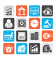 Business finance and bank icons vector image vector image