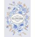 Vintage wedding card with flowers vector image vector image