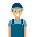 mechanic man isolated icon design vector image