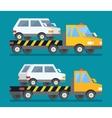 Evacuation car road assistance service help vector image