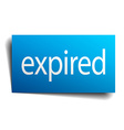 Expired blue paper sign on white background vector image