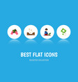 flat icon plant set of florist plant seed and vector image