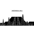 indonesia bali architecture city skyline vector image