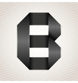 Letter metal ribbon - B vector image