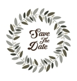 Save the date graphic design vector image