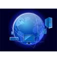 technology world vector image