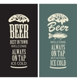beer glasses from the inscriptions vector image